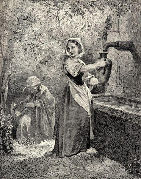 Иллюстрация Гюстава Доре к сказке «Подарки феи», XIX век.