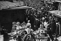Москва, 1928 год. Сухаревский рынок (Колхозная площадь) во времена НЭПа.