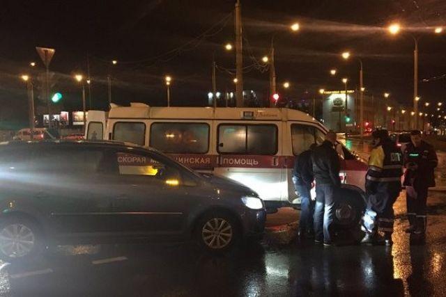 ВГродно легковушка столкнулась со«скорой», перевозившей тяжёлого нездорового