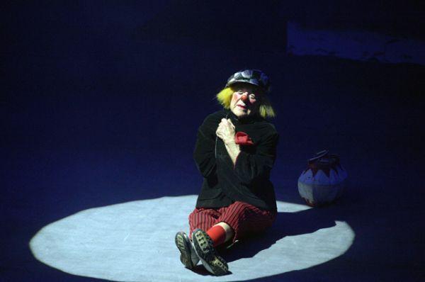 Выступление клоуна Олега Попова на торжественной церемонии открытия Большого Санкт-Петербургского Государственного цирка на Фонтанке в рамках IV Санкт-Петербургского Международного культурного форума. 2015 год.