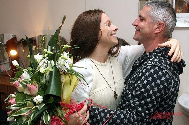 Екатерина Гусева с мужем Владимиром Абашкиным. ©