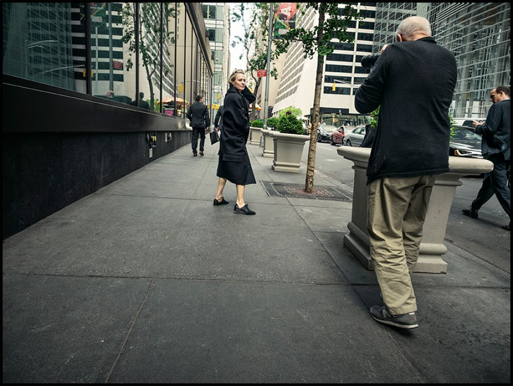 Робин Райт. Съемки в Нью-Йорке.