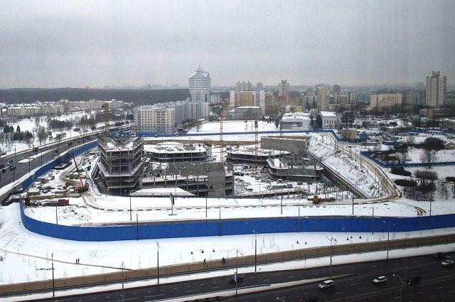 Возведение МФК группы «Газпром» вМинске приостановлено