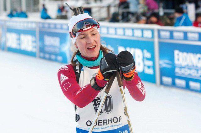 Татьяна Акимова стала 14-ой вспринте наэтапе Кубка мира побиатлону