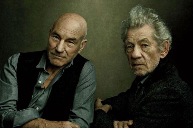 Патрик Стюарт и Иэн Маккеллен.