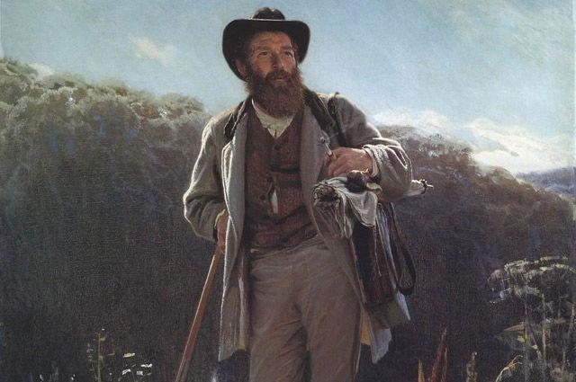 Современники описывали Шишкина как «высокого, стройного, красивого силача». Портрет работы И.Крамского, 1873 г.