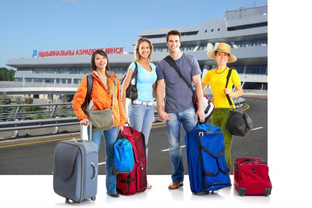 Въезд и выезд - толькочерезНациональный аэропорт «Минск».