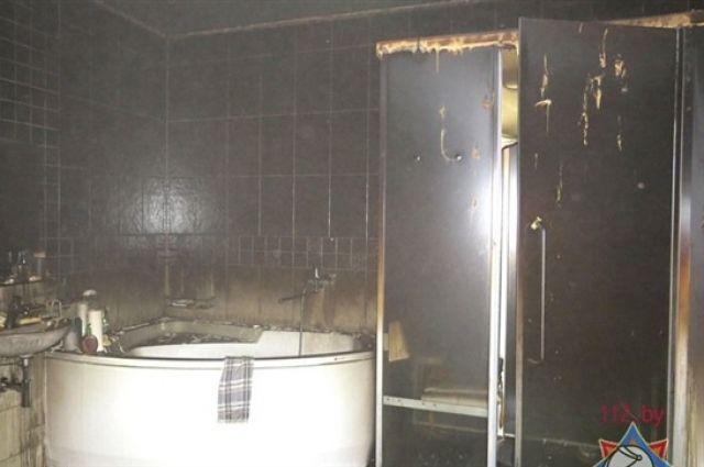 Вминской квартире на17-м этаже горела баня