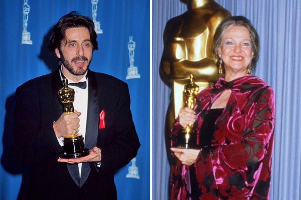 Наибольшее количество номинаций (среди актеров) до первой победы: 8 раз до получения награды номинировались на «Оскар» актер Аль Пачино и актриса Джеральдин Пейдж.