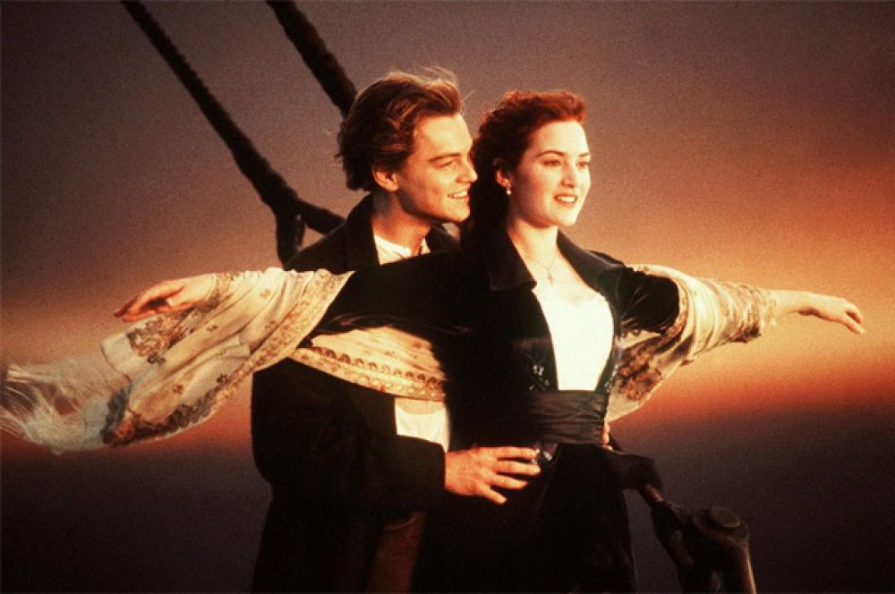 Фильмы с наибольшим количеством номинаций: всего три фильма в истории «Оскара»  — «Ла Ла Ленд» (2016 г.), «Титаник» (1997 г.; на фото) и «Все о Еве» (1950 г.) — получали по 14 номинаций.
