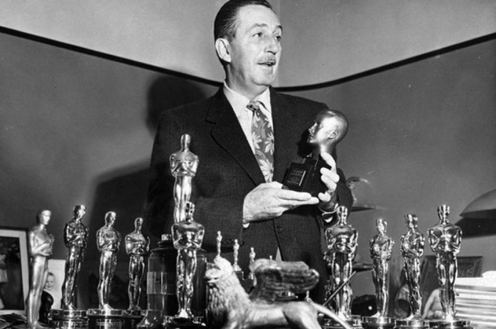 Наибольшее количество «Оскаров» (среди мужчин): 26 наград за всю свою карьеру получил Уолт Дисней.