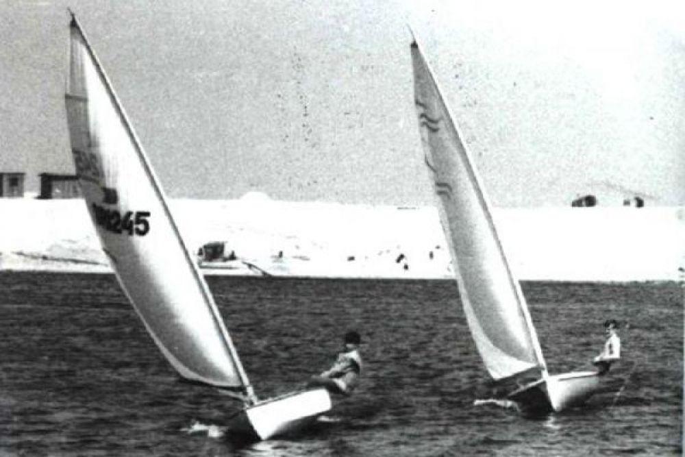 Соревнования яхтсменов.