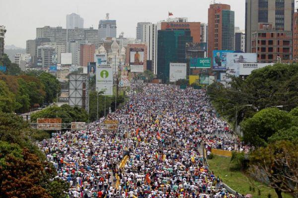 Массовые беспорядки в Венесуэле.