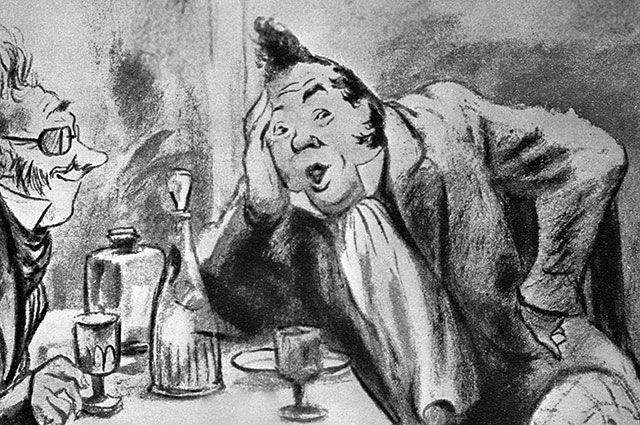 Иллюстрация Кукрыниксов к поэме Николая Гоголя «Мертвые души».