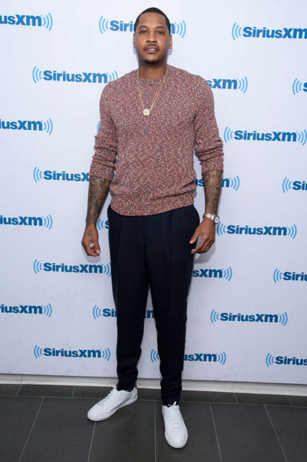 18-е место — баскетболист Кармело Энтони, играющий в клубе «Нью-Йорк Никс».
