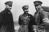 Тухачевский, Буденный, Егоров на учениях. 1934-1935 год.