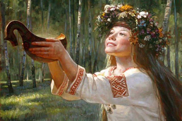 Сияла Пина своей красотой, как ракушка на солнце. Художник - Андрей Шишкин.