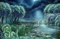Решил Водяник затопить селище людей и призвал на помощь бобров.
