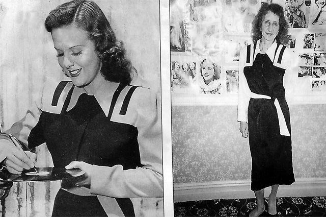 В 1995 г. Тамара Сергеевна побывала на фестивале Дины Дурбин в Англии. Всех предупредили, что будет русская. Но когда она вошла, зал охнул - на ней было платье Дурбин.