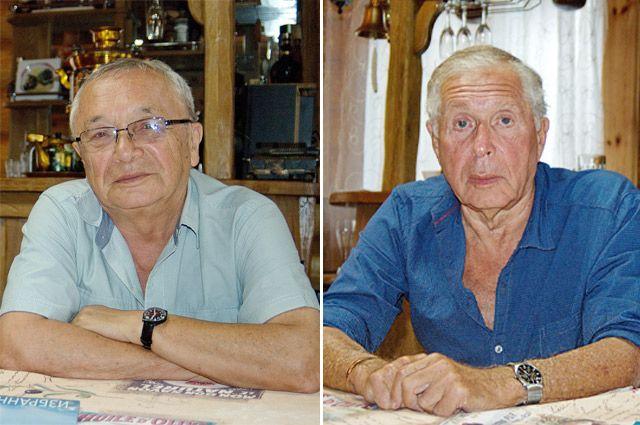 Юлий Черсанович Ким и Юрий Евгеньевич Ряшенцев.