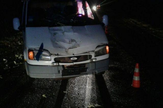 Под Оршей Форд Transit сбил насмерть женщину-пешехода