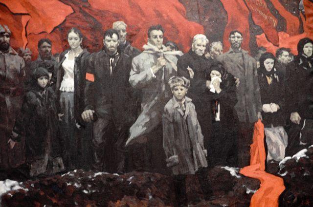 Репродукция картины «Джон Рид» работы художника Л. Г. Зудова.