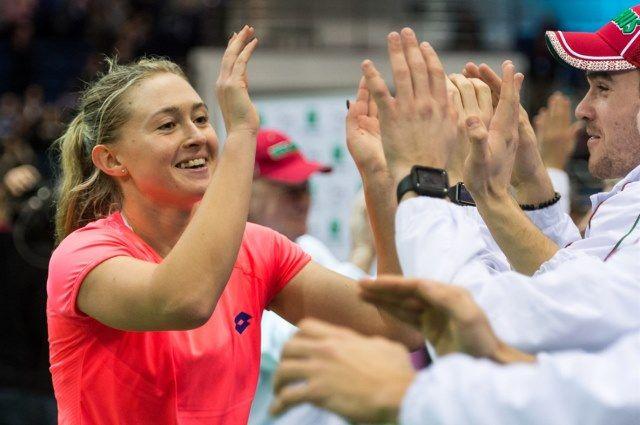 Соболенко впаре сКудерметовой прошла вчетвертьфинал турнира вХобарте