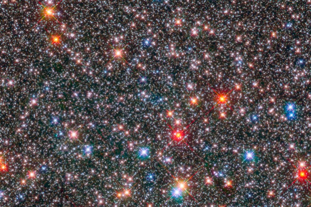 Центр галактики Млечный Путь. Снимок сделан с помощью космического телескопа «Хаббл».