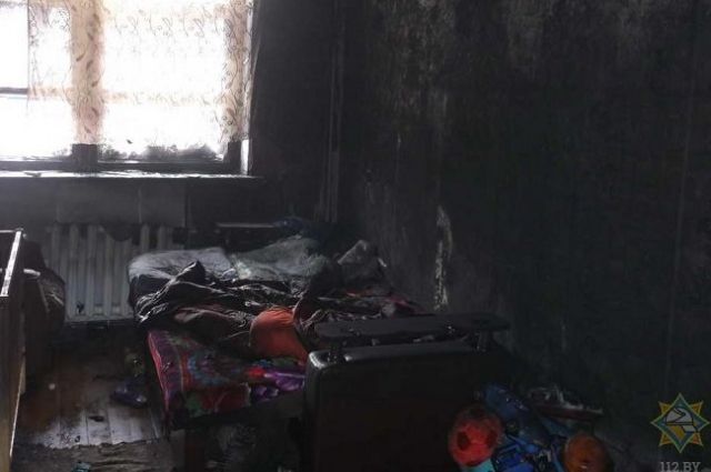 ВМозыре напожаре вобщежитии cотрудники экстренных служб эвакуировали 7 человек