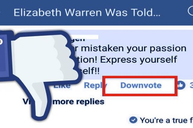 Социальная сеть Facebook начал тестировать кнопку «Ненравится»— Палец вниз