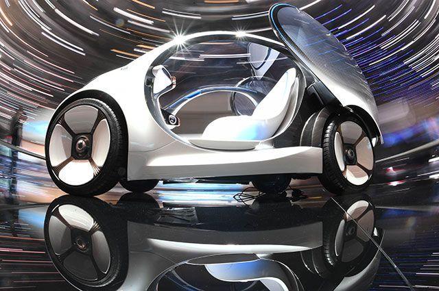 Smart Vision EQ на Женевском автосалоне.