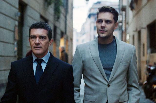 Майкл (актёр Милош Бикович, на фото справа) и Гордон (Антонио Бандерас) хотят подмять под себя мир больших ставок. Фото предоставлено пресс-службой кинокомпании «КИНОДАНЦ»