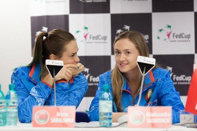 Арина Соболенко и Александра Саснович.