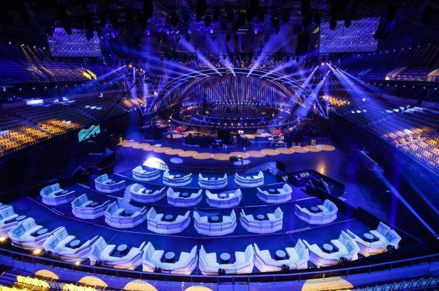 Завершен монтаж основной сцены «Евровидения-2018»— огромный корабль