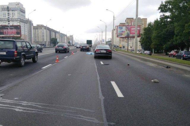 Напроспекте Независимости Ауди насмерть сбила пешехода