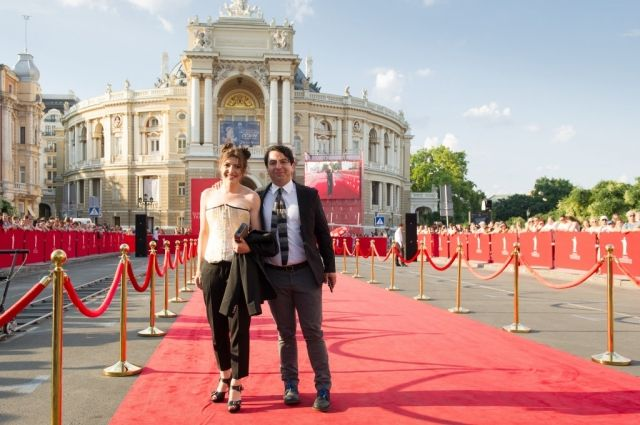Дарья Жук с мужем на кинофестивале в Одессе.