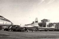 В минском аэропорту. 60-е годы XX века.