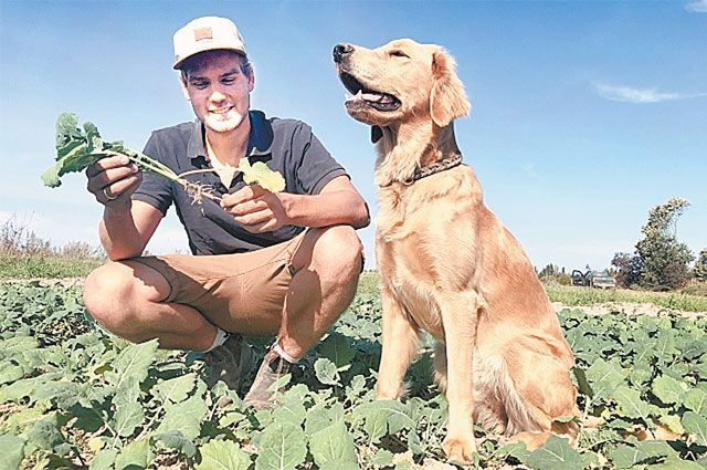 В псковскую деревню Эрик приехал вместе со своей собакой Лоной.