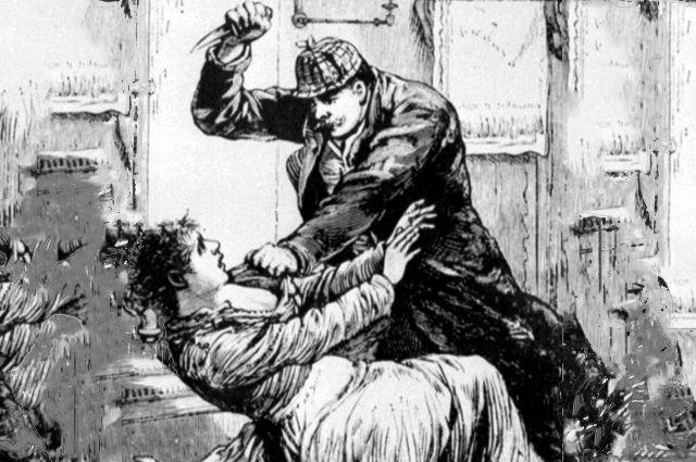 Джек Потрошитель. Иллюстрация в Police Gazzette, 1888.