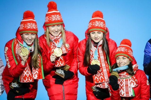 Впервые в истории Игр Беларусь – с «золотом» в биатлонной эстафете!