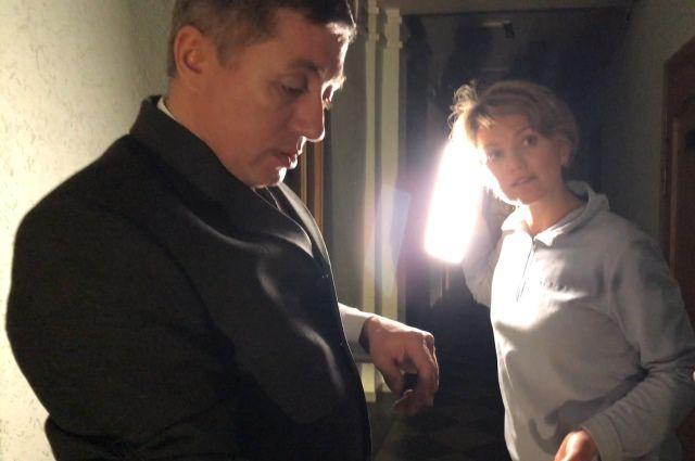Режиссер Лена Силутина и исполнитель главной роли Олег Рыжевич.