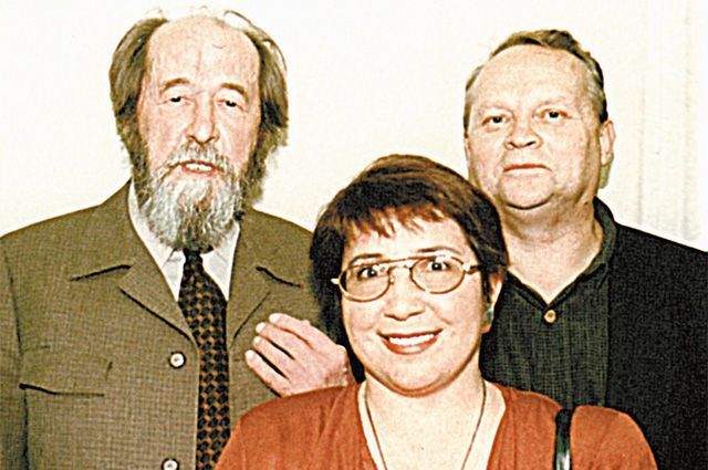 Александр Солженицын, Владислав Старков и Наталья Желнорова, середина 1990-х гг.