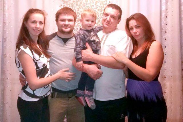 Валерий Яковенко с семьей.