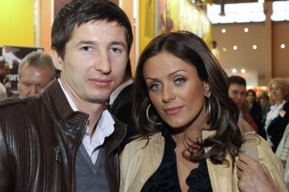Юлия Началова с мужем Евгением Алдониным. 2010 год.