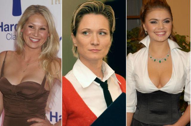 Анна Курникова, Мария Киселева, Алина Кабаева.