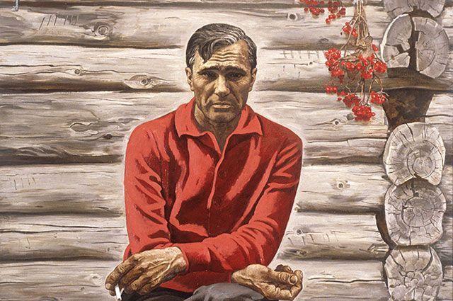 «Портрет Василия Шукшина» из серии «Сыны России» работы художника Виктора Псарева. 1987 год.