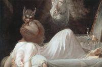 На картине английского художника Генри Фюзели «Ночной кошмар» на груди спящей женщины сидит инкуб — воплощение кошмаров и бессознательных страхов.