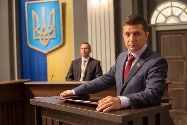 В роли президента Василия Голобородько в сериале «Слуга народа».
