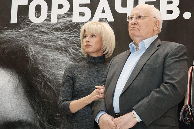 Экс-президент СССР Михаил Горбачев с дочерью Ириной. 2011 г.