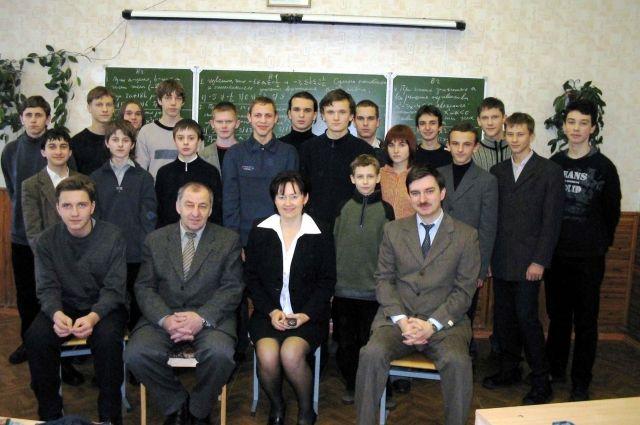 Валентин Серебряный со своими учениками, 2005 г.